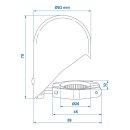 Abdeckkappe Chrom Metall klappbar für Anhängerkupplung Kugelkopf