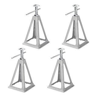 Stützbock-Set von 4 Stück Aluminium