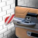 Autotür Schutzleiste für Garage rot/weiss