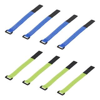 Klett-Kabelbinder Set von 8 Stück