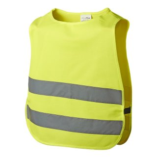 Warnweste gelb für Kinder