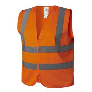 Warnweste orange XL mit Schulterstreifen