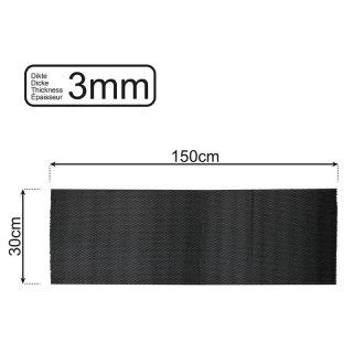 Anti-Rutsch-Matte schwarz 150x30cm 3mm