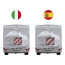Alu-Warntafel Italien/Spanien