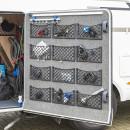 Ablagenetz elastisch mit Rahmen Kunststoff NS-12