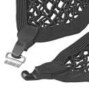 Gepäcknetz elastisch doppel mit Kunststoff-Haken NS-2
