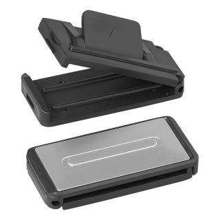 Sicherheitsgurt-Clip Set von 2 Stück silbergrau