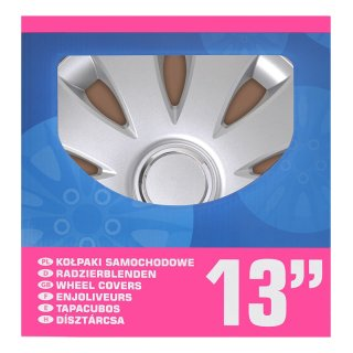 Radblenden-Set Aura 13 Zoll 4 Stück im Displaykarton