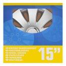 Radblenden-Set Aura 15 Zoll 4 Stück im Displaykarton
