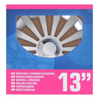Radblenden-Set Meridian 13 Zoll 4 Stück im Displaykarton