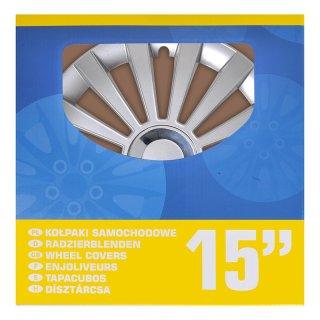 Radblenden-Set Meridian 15 Zoll 4 Stück im Displaykarton