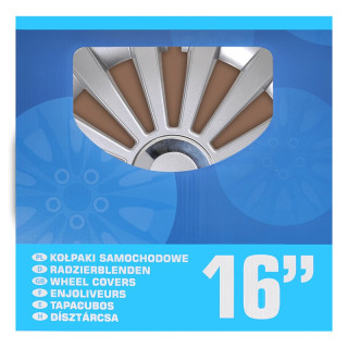 Radblenden-Set Meridian 16 Zoll 4 Stück im Displaykarton