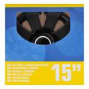 Radblenden-Set Aura schwarz 15 Zoll 4 Stück im...