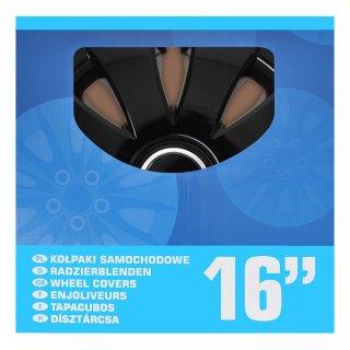 Radblenden-Set Aura schwarz 16 Zoll 4 Stück im Displaykarton
