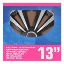 Radblenden-Set Terra Silber/schwarz 13 Zoll 4 Stück...
