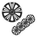 Radblenden-Set Terra Silber/schwarz 15 Zoll 4 Stück im Displaykarton