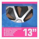 Radblenden-Set Roco Silber/schwarz 13 Zoll 4 Stück...
