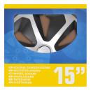 Radblenden-Set Roco Silber/schwarz 15 Zoll 4 Stück...