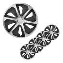 Radblenden-Set Roco Silber/schwarz 15 Zoll 4 Stück im Displaykarton