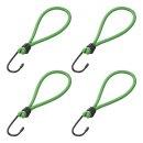 Metallhaken mit elastischer Schleife für Anhängernetz/Zelt/Planen 4 Stück im Blister