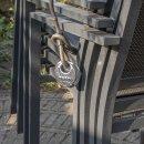 Rundbügel-Vorhangschloss mit Zahlenkombination