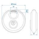 Rundbügel-Vorhangschloss 2 Stück gleichschliessend im Blister
