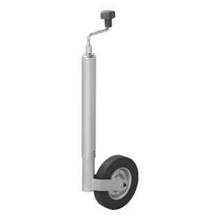 Stützrad Metall-Felge mit Vollgummi-Reifen