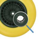 PU-Reifen mit Kunststoff-Felge inkl. Achse