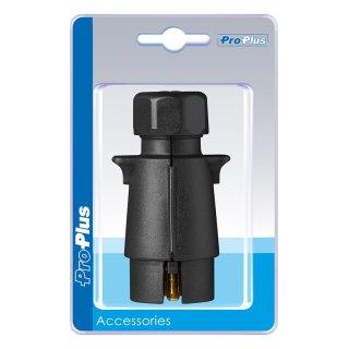 Stecker 7-polig PVC mit Flachsteckeranschluss im Blister