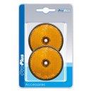Reflektor orange 60mm Schraubbefestigung 2 Stück im Blister