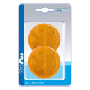 Reflektor orange 60mm selbstklebend 2 Stück im Blister