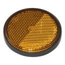 Reflektor orange 58mm selbstklebend mit Grundplatte 2 Stück im Blister