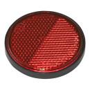 Reflektor rot 58mm selbstklebend mit Grundplatte 2 Stück im Blister