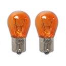 Autolampe 12V 21W BA15s orange 2 Stück im Blister