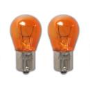 Autolampe 12V 21W BAU15s orange 2 Stück im Blister