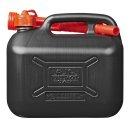 Benzinkanister 5L Kunststoff schwarz UN-geprüft