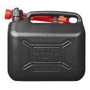 Benzinkanister 10L Kunststoff schwarz UN-geprüft