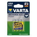 Recharge Accu Power Batterien AAA 4 Stück im Blister