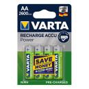Recharge Accu Power Batterien AA 4 Stück im Blister