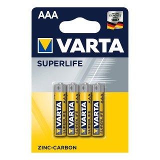 Varta Superlife Batterien AAA 4 Stück